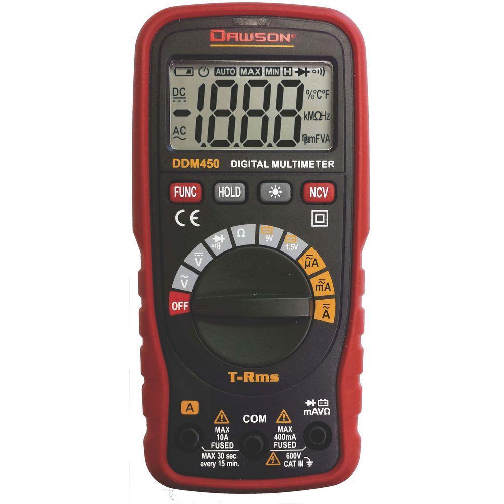 Product Digital Multimeter : Dawson trms compact auto range digital multimeter ddm