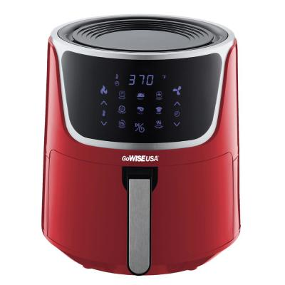 7 Qt. Red Air Fryer with Dehydrator and 3-Stackable Racks with 8-Functions