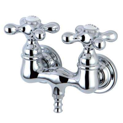 Vintage 2-Handle 3-3/8 in. Centers Claw Foot Tub Faucet in Chrome