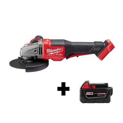 M18 FUEL 18-Volt Lithium-Ion Brushless Cordless 4-1/2 in. / 6 in. Grinder W/ Paddle Switch W/ Free M18 5.0 Ah Battery
