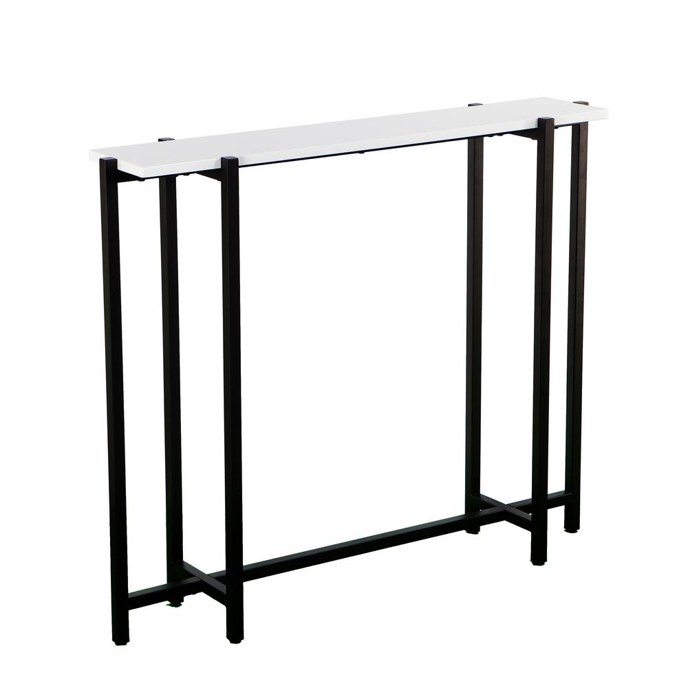 Southern Enterprises Michaelson Black With White Contemporary Narrow Console Table