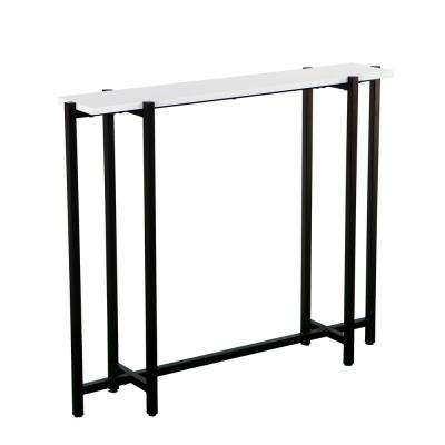 Michaelson Black with White Contemporary Narrow Console Table