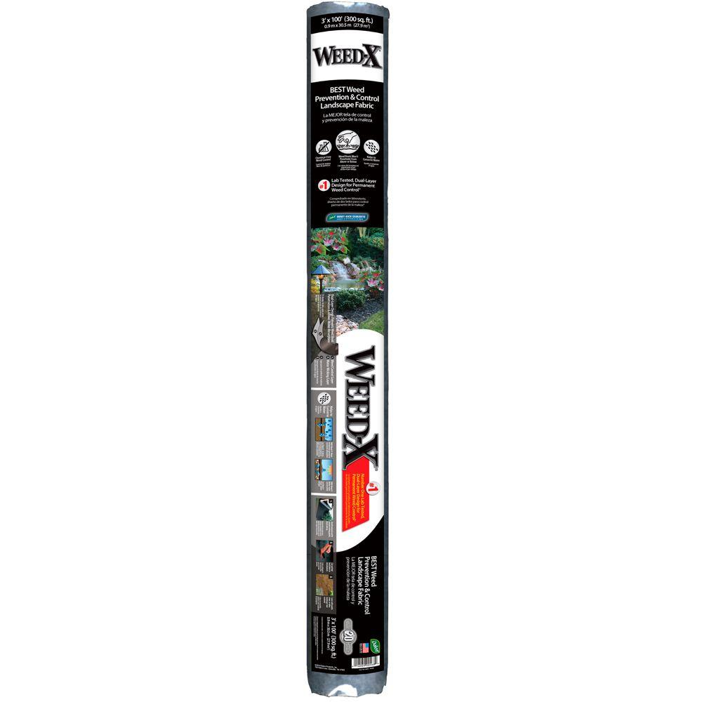 Weed-X 3 ft. x 100 ft. Dalen Products Roll Landscape Fabric-WX-100HD ...