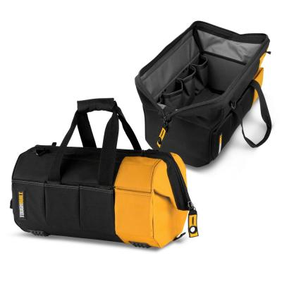 Massive Mouth 16 in. Tool Bag with 38-Pockets in Black