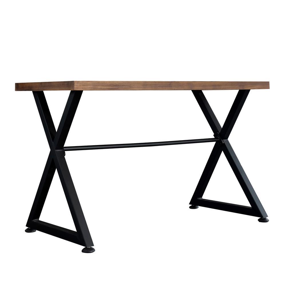 Brown/Black Contemporary Industrial Computer Desk/Hallway Decor Nova Table