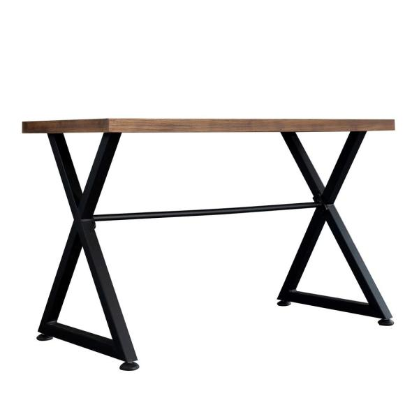 Brown/Black Contemporary Industrial Computer Desk/Hallway Decor Nova Table