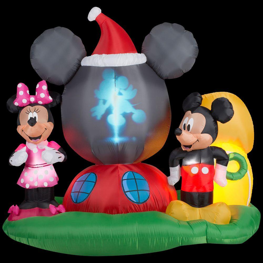 Gemmy 6.5 ft. H Panoramic Projection Inflatable Mickey Mouse's ...