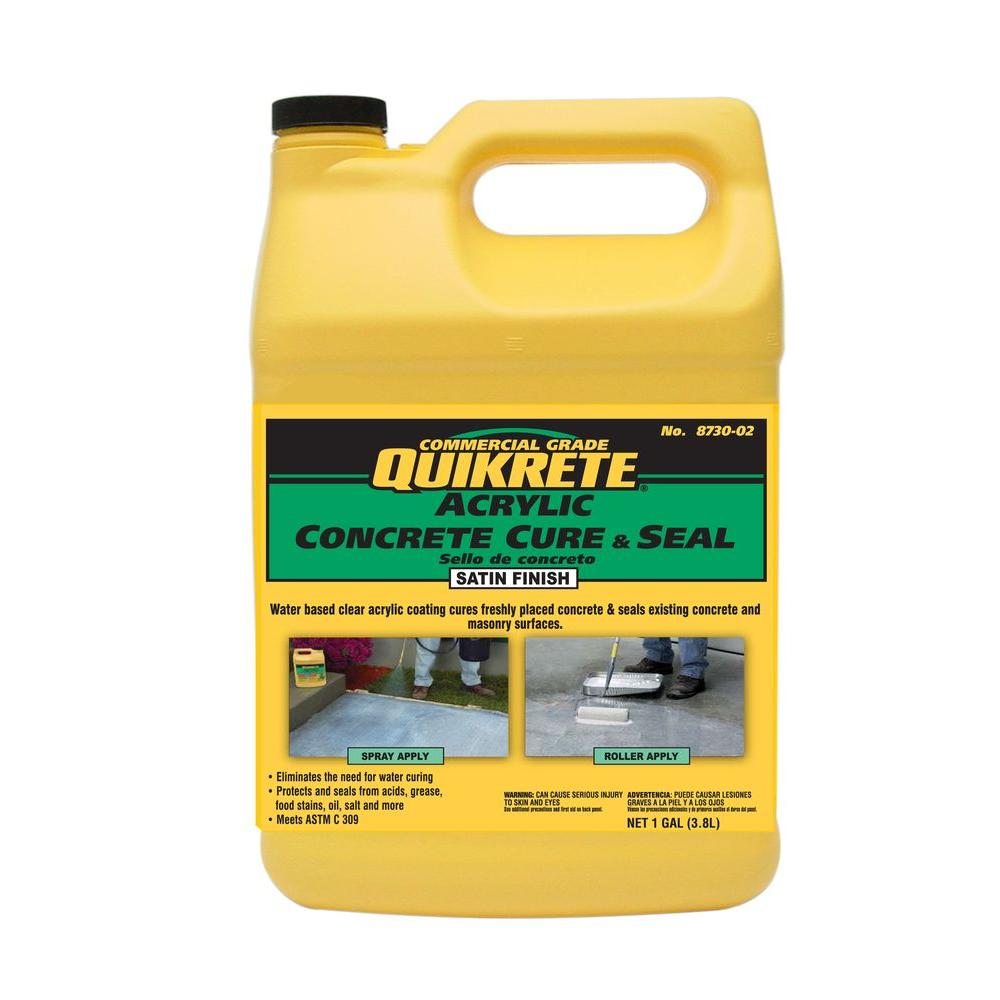 Home Depot Acrylic Cement : Quikrete lbs acrylic concrete cure and sealer