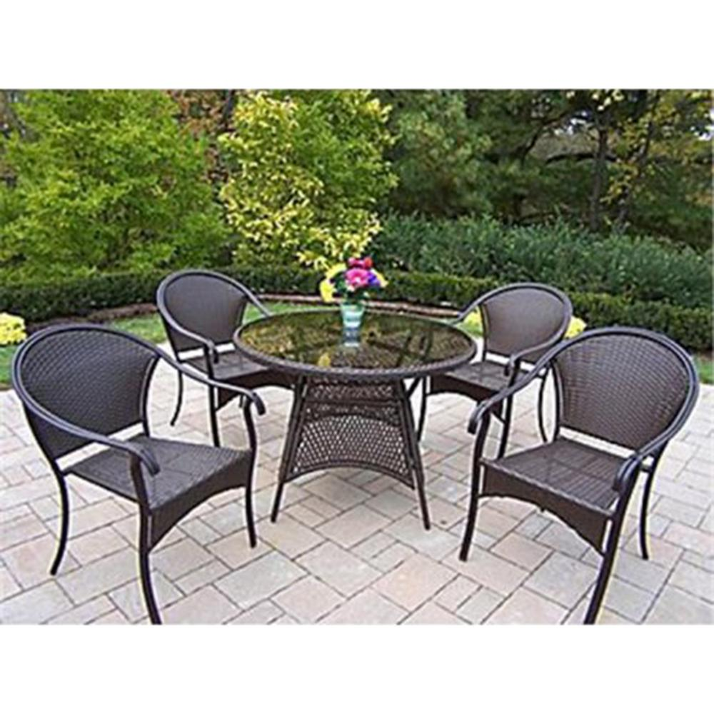 Tuscany 5-Piece Wicker Outdoor Dining Set