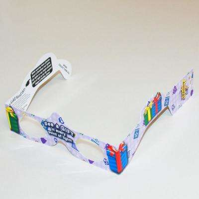 Magical 3-D Christmas Gift Paper Glasses