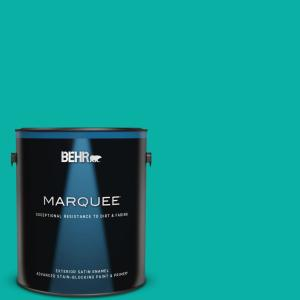1 gal. #490B-5 Cozumel Satin Enamel Exterior Paint and Primer in One