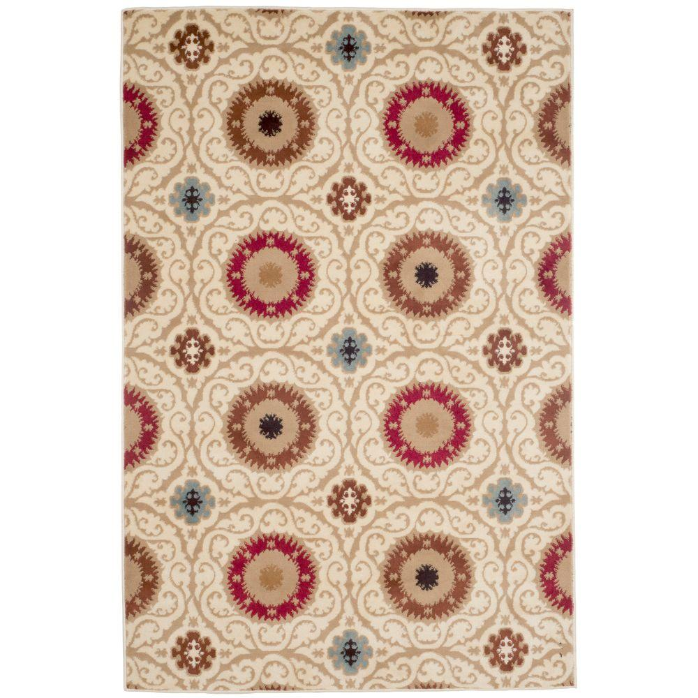 Royal Damask Cream 4 ft. x 6 ft. Area Rug