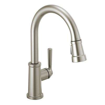 Westchester Single-Handle Pull-Down Sprayer Kitchen Faucet in Stainless