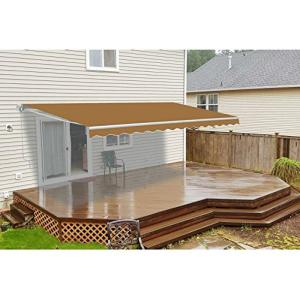 ALEKO 12 ft. Manual Patio Retractable Awning (120 in ...