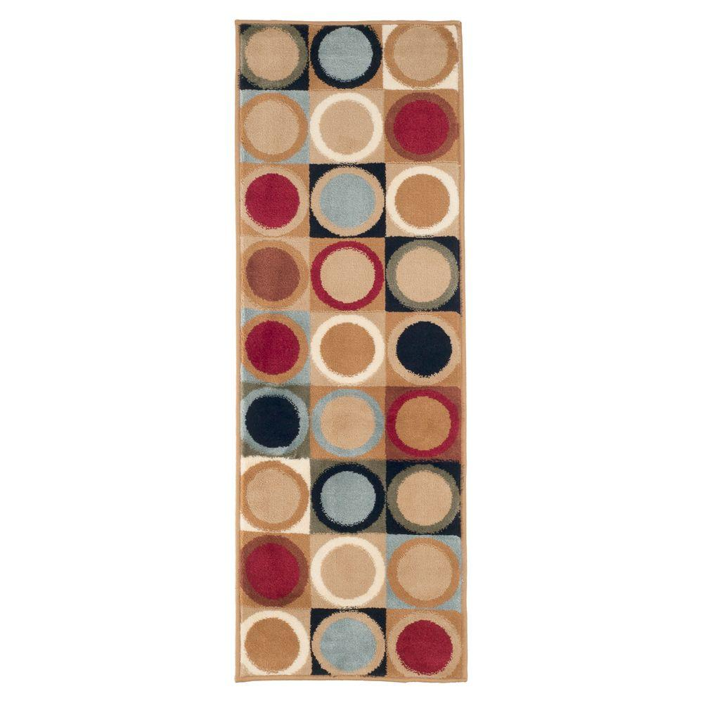 Circles Ivory 1 ft. 8 in. x 5 ft. Rug Runner