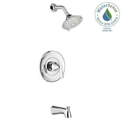 Chatfield Single-Handle 3-Spray Tub and Shower Faucet with 2.0 GPM in Polished Chrome (Valve Included)