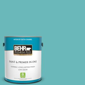 1 gal. #510D-5 Surfer Satin Enamel Low Odor Interior Paint and Primer in One