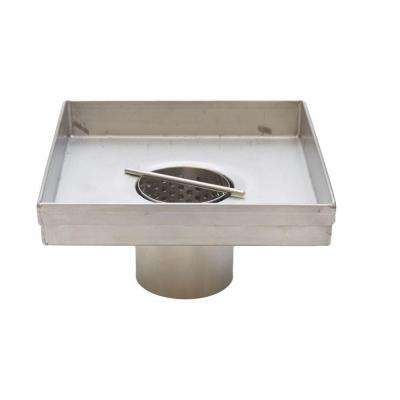 Square Shower Drains 5 in. Shower Drain Square Body Only