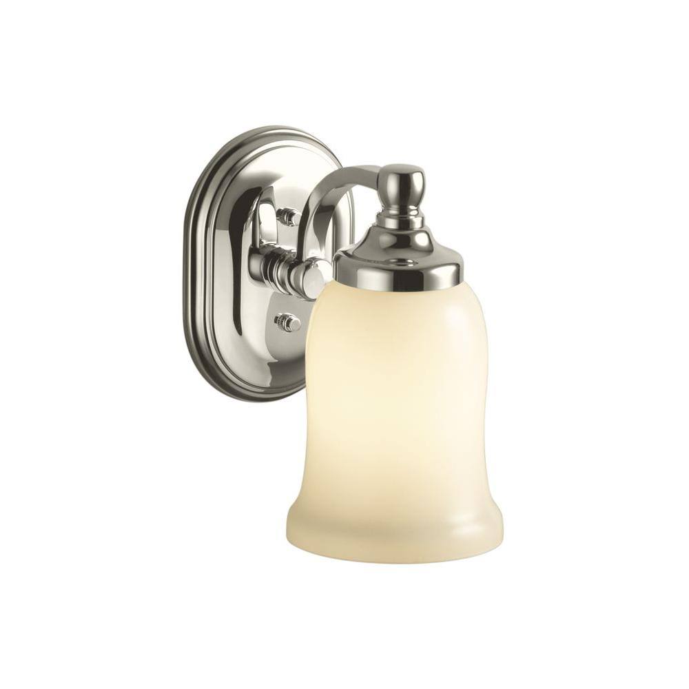 KOHLER Bancroft 1-Light Vibrant Polished Nickel LED Wall Sconce