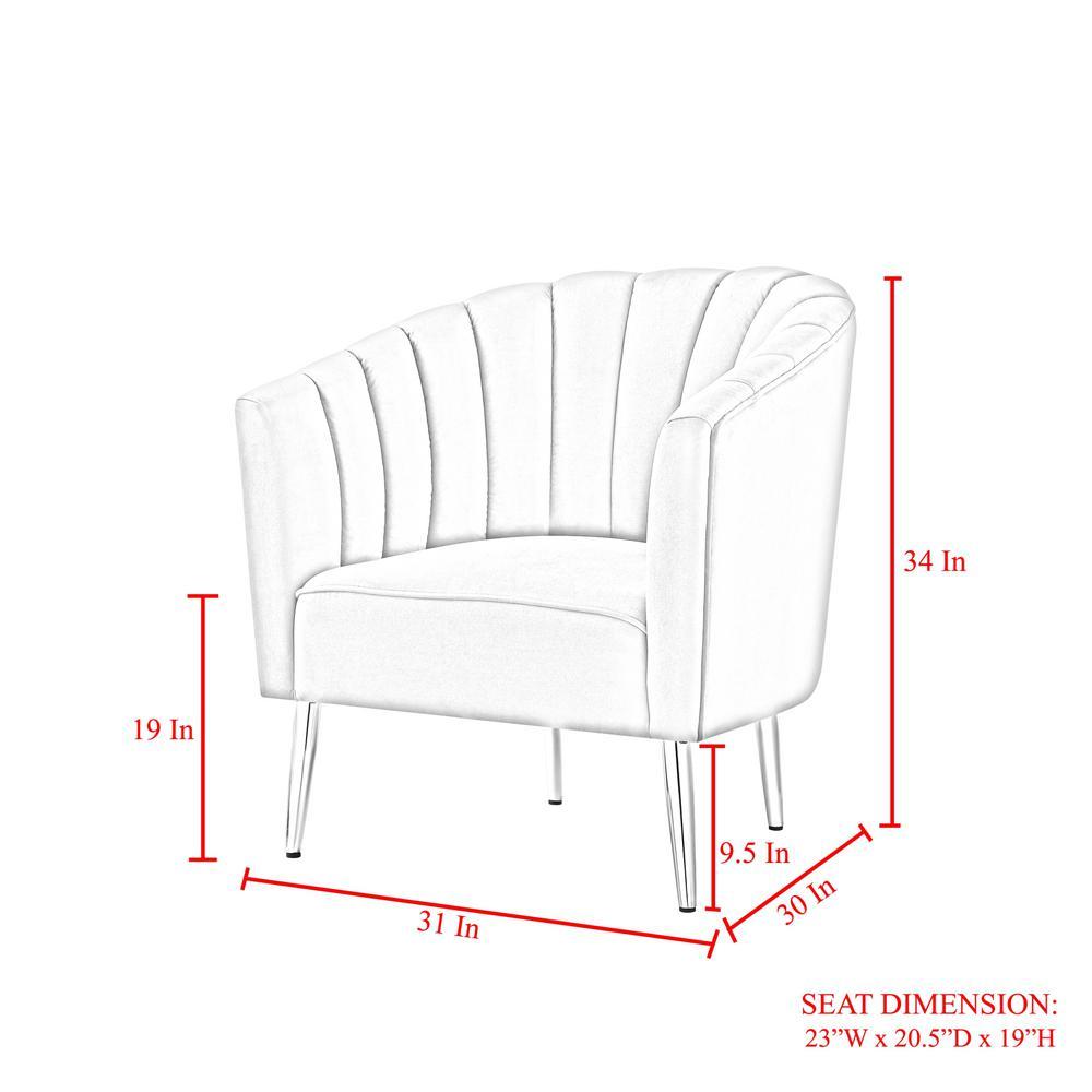 Tremendous Nicole Miller Tibii Grey Chrome Velvet Accent Chair With Cjindustries Chair Design For Home Cjindustriesco