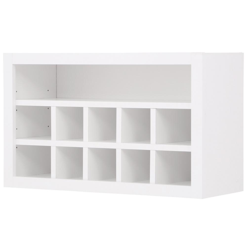 Hampton Bay Shaker Embled 30x18x12 In Wall Flex Kitchen Cabinet With Shelves And