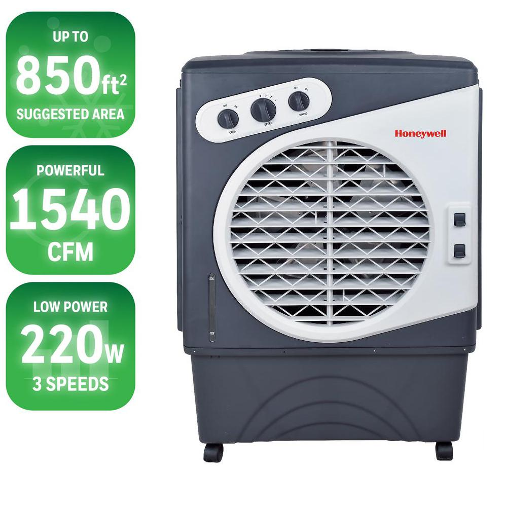 Honeywell 1540 CFM 3-Speed Portable Evaporative Cooler for 850 sq. ft.