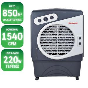 Click here to buy Honeywell 1540 CFM 3-Speed Portable Evaporative Cooler for 850 sq. ft. by Honeywell.