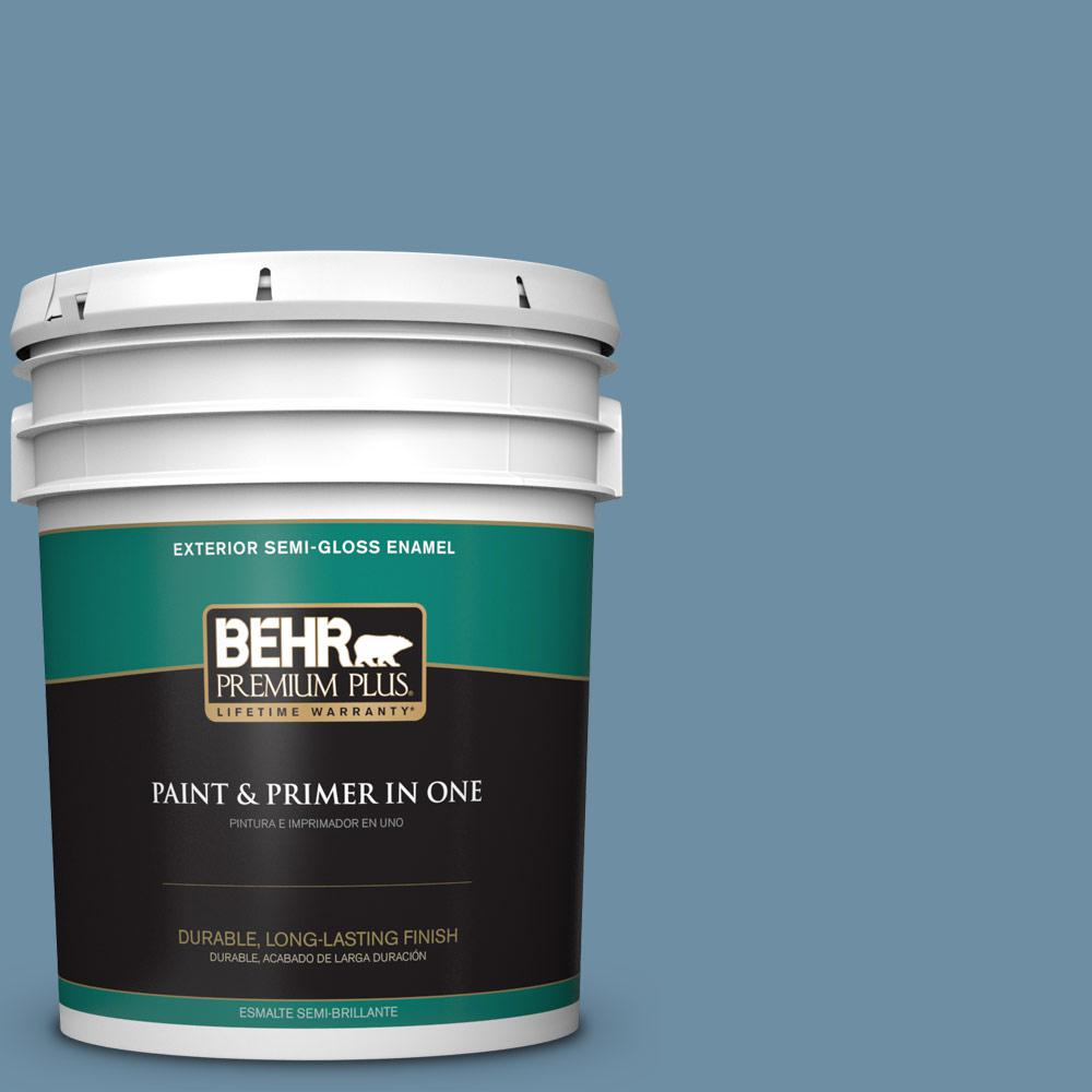5 gal. #PPU14-04 French Court Semi-Gloss Enamel Exterior Paint