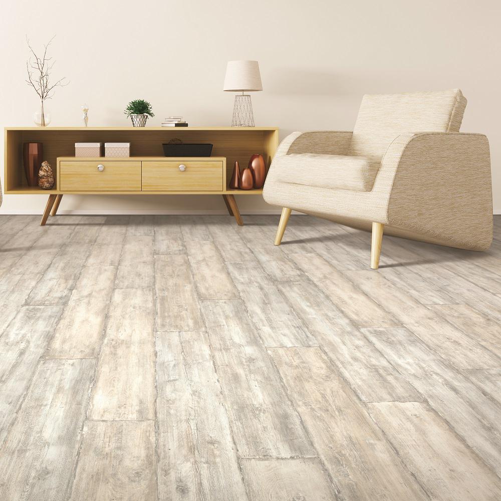 Outlast+ Waterproof Salted Oak 10 mm T x 7.48 in. W x 54.33 in. L Laminate Flooring (16.93 sq. ft. / case)