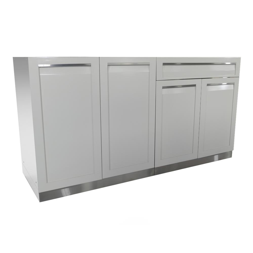 Top 5 Best Kitchen Cabinets Inserts For Sale 2017: Cal Flame 2-Piece BBQ Island And Side Bar With 32 In