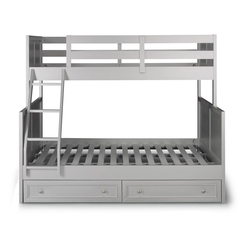 Home Styles Venice Gray Twin Over Full Bunk Bed With Storage