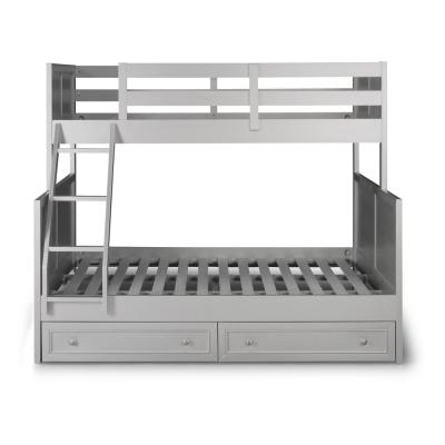 Venice Gray Twin over Full Bunk Bed with Storage Dressers