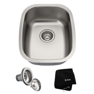Premier Stainless Steel 15 in. Undermount Bar Sink