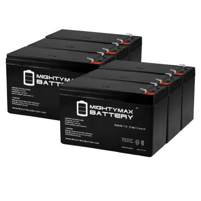 12-Volt 7.2 Ah SLA (Sealed Lead Acid) AGM Type Replacement Battery for Alarm/Security Systems (6-Pack)