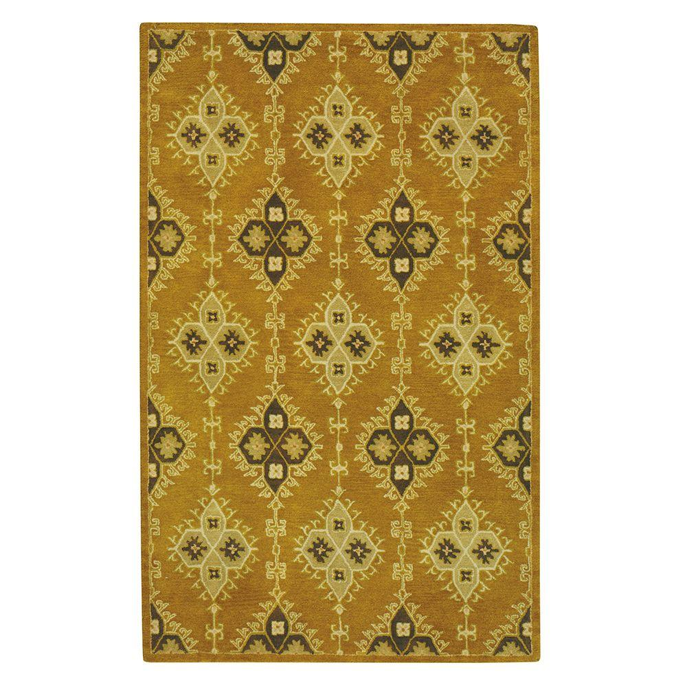Home Decorators Collection Loire Gold 2 ft. x 3 ft. Area Rug