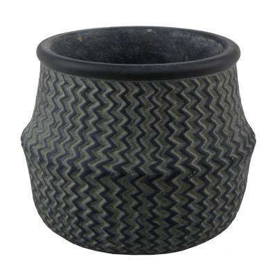 Large 8.5 in. Cement Belly Basket Planter