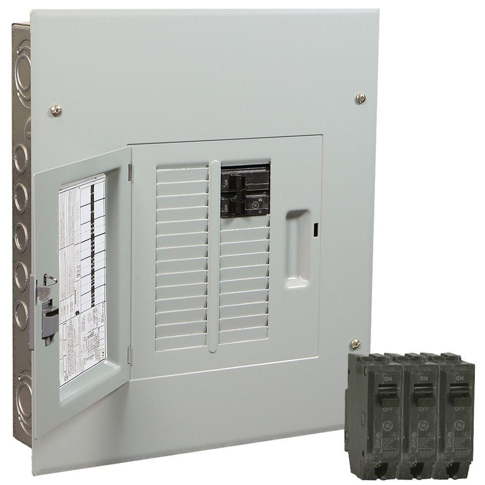 240 Breaker Boxes Power Distribution The Home Depot Metal Enclosure Box Waterproof Circuit Powermark Gold 100 Amp 12 Space 22 Indoor Main Value Kit