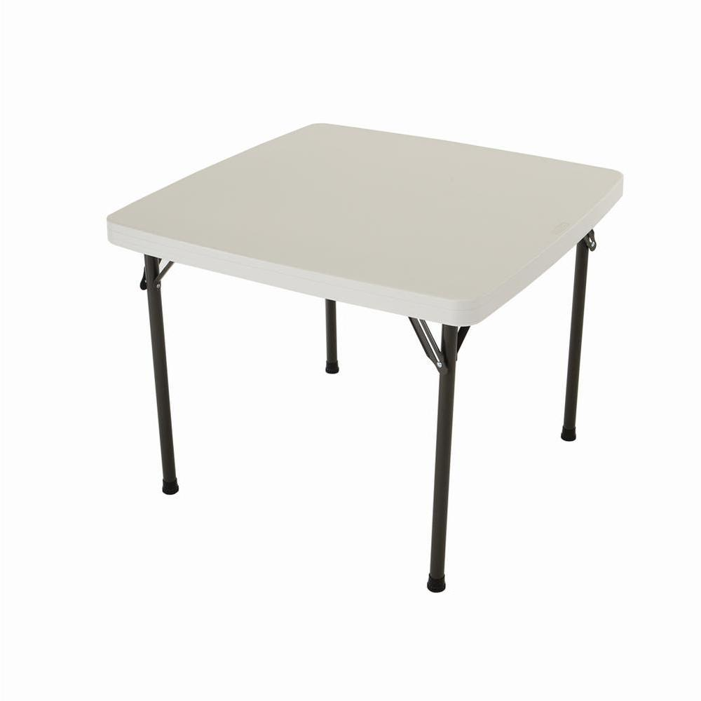 Lifetime 37 in. x 37 in. Almond Square Card Table