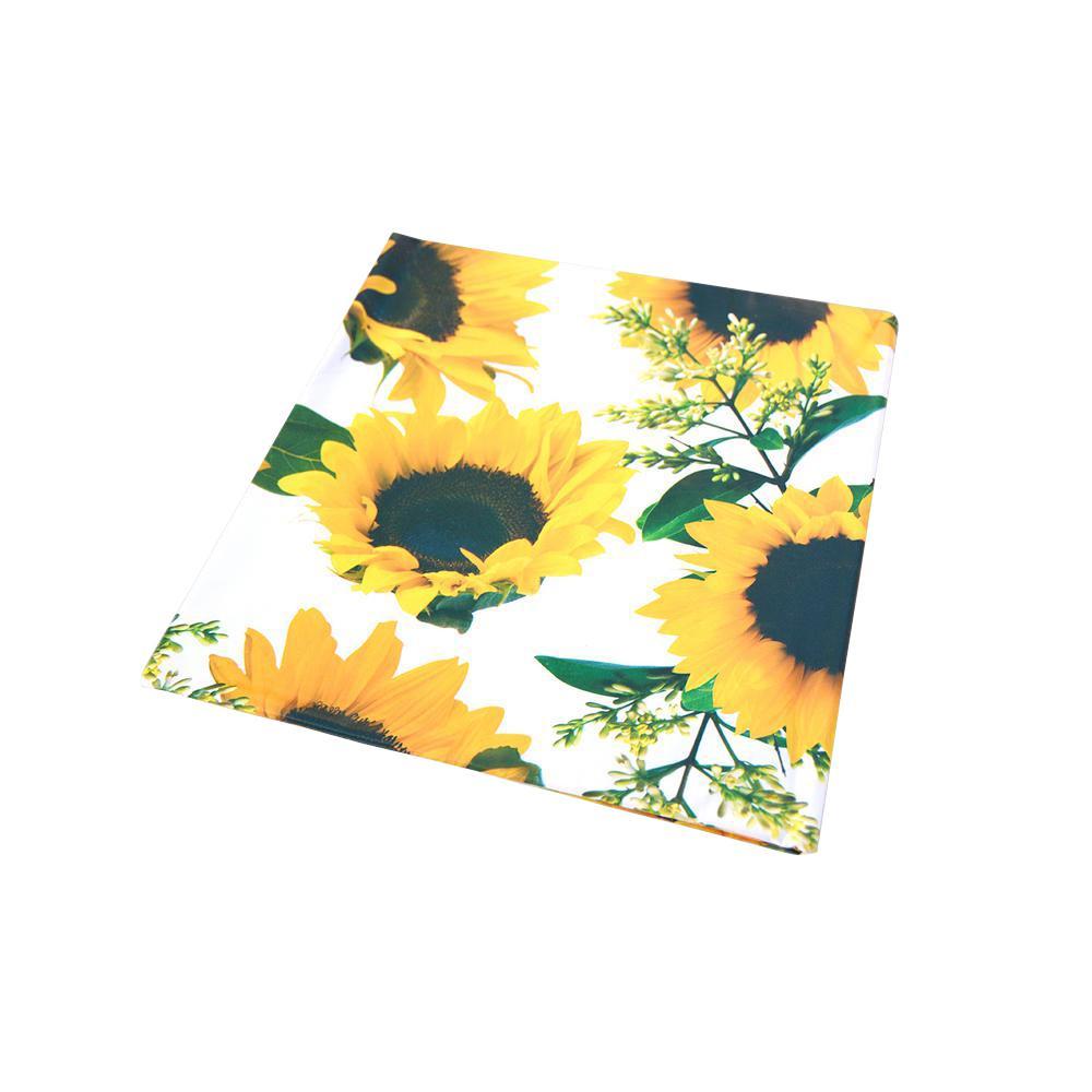 55 in. x 102 in. Indoor and Outdoor Sunflower Design Tabl...