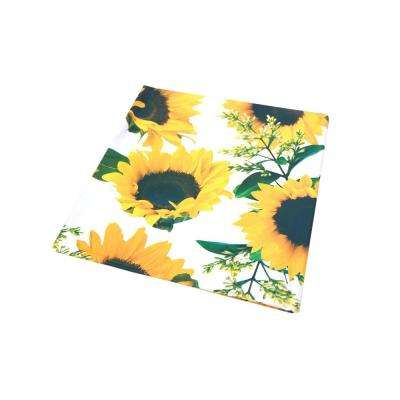 55 in. x 102 in. Indoor and Outdoor Sunflower Design Tablecloth for Dining Table
