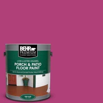 1 gal. #100B-7 Hot Pink Low-Lustre Enamel Interior/Exterior Porch and Patio Floor Paint