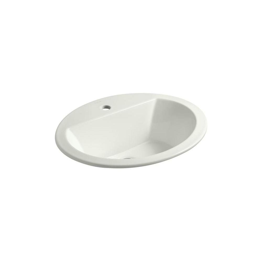 Bryant Drop-In Vitreous China Bathroom Sink in Dune with Overflow Drain