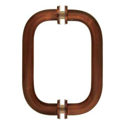 6 in. Tubular Back-to-Back Shower Door Pull Handles in Oil Rubbed Bronze with Washers