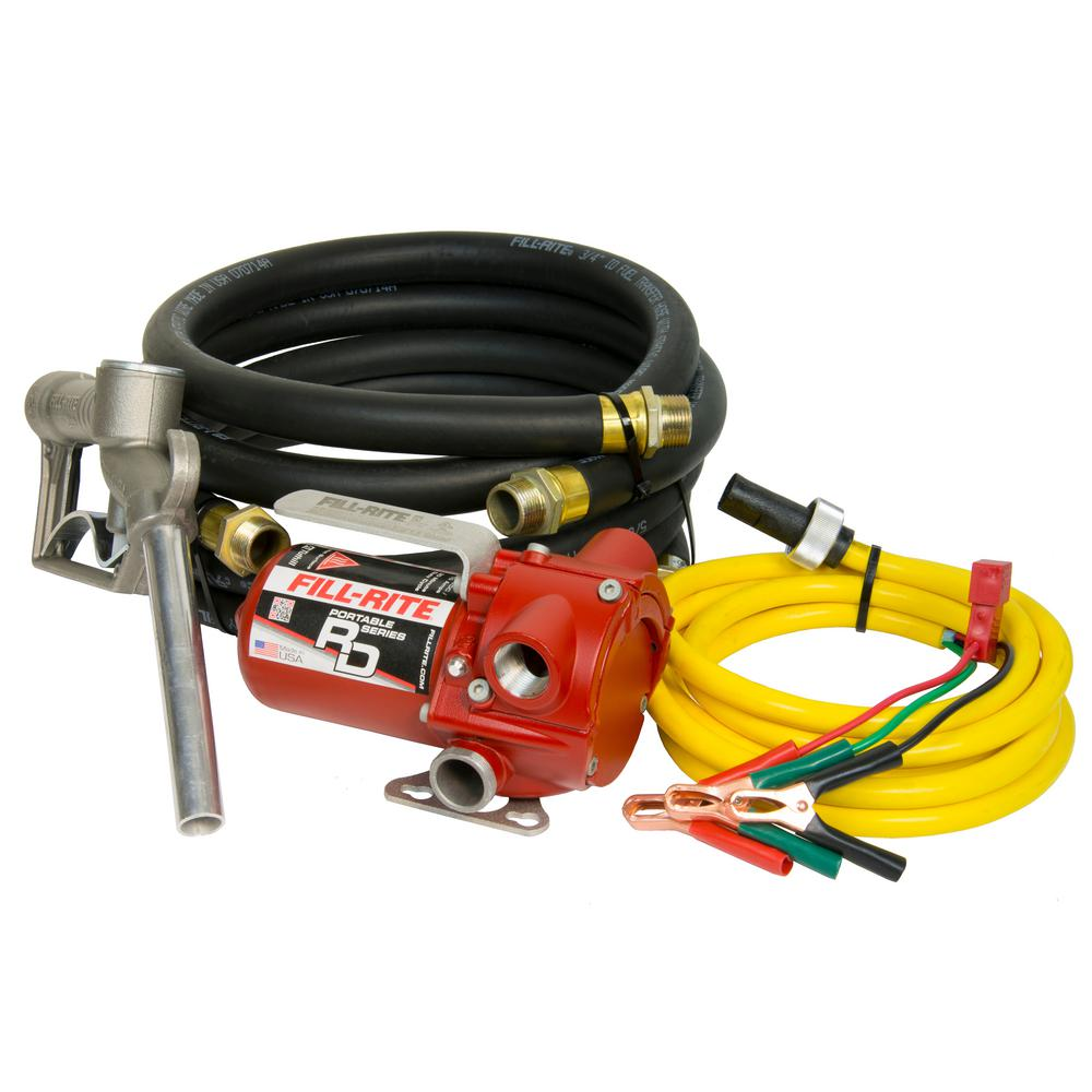 FILL-RITE Fill-Rite 12-Volt 12 GPM 1/6 HP Portable Fuel Transfer Pump with Standard Accessories