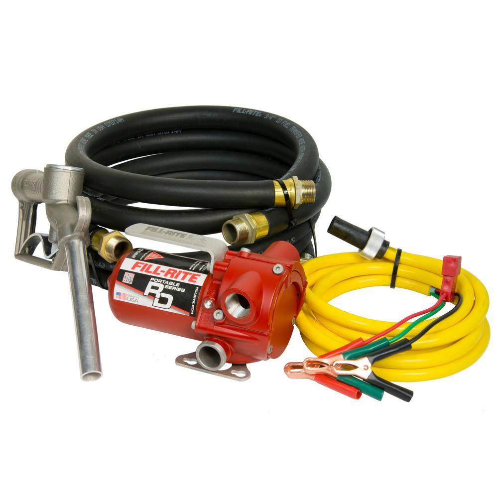 Fill-Rite 12-Volt 12 GPM 1/6 HP Portable Fuel Transfer Pump with Standard Accessories