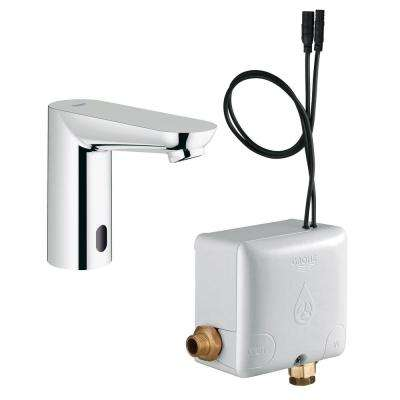 Euroeco Cosmopolitan E AC Powered Single Hole Touchless Bathroom Faucet in StarLight Chrome
