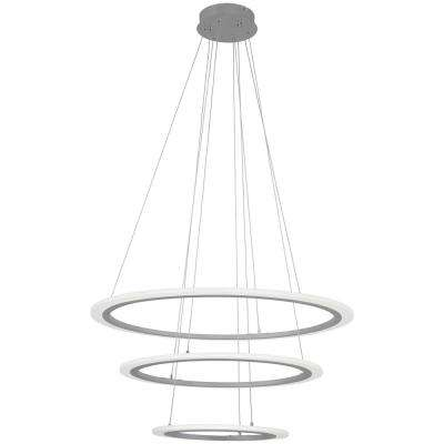 Discovery 150-Watt Equivalence Silver Integrated LED Pendant