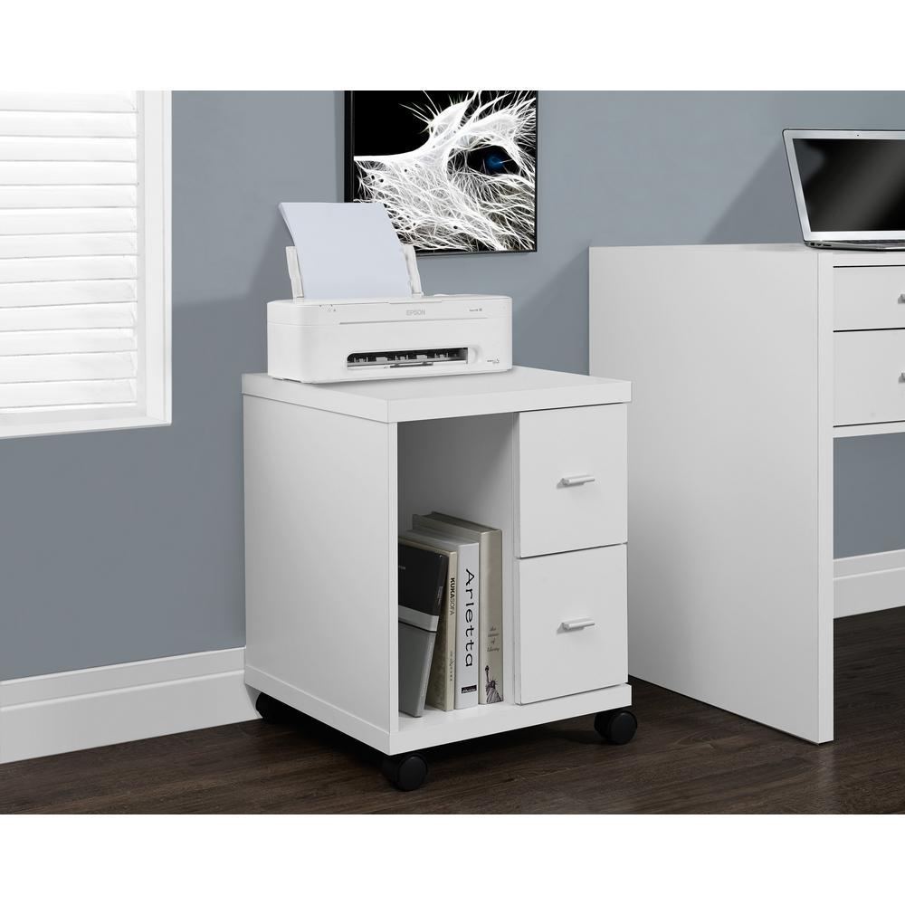 Monarch Specialties White File Cabinet