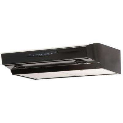 Allure III Series 30 in. Convertible Under Cabinet Range Hood with Light in Black