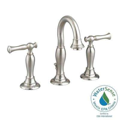 Quentin 8 in. Widespread 2-Handle High Arc Bathroom Faucet in Brushed Nickel